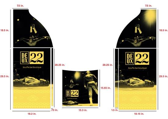 Wrap sur mesure pour l'ATM du bar Le Deux22.